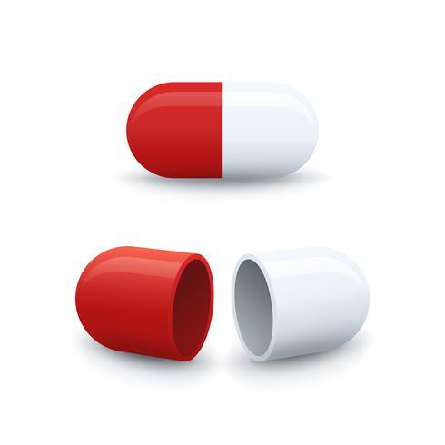 Open en gesloten capsule pictogrammen