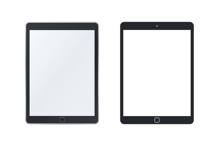 Tablet pc templates vector