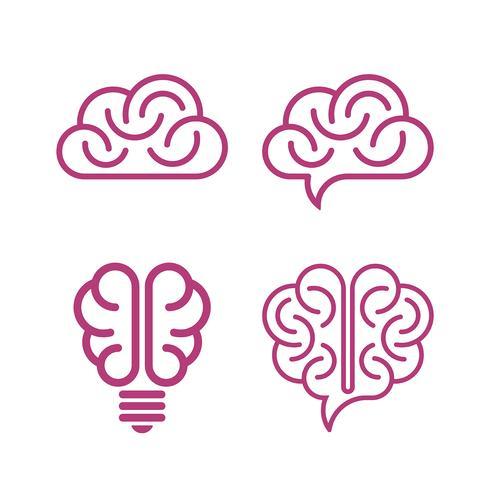 Varie icone del cervello