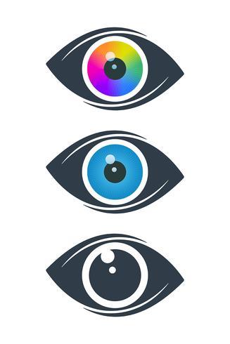 Abstrakta ögonikoner