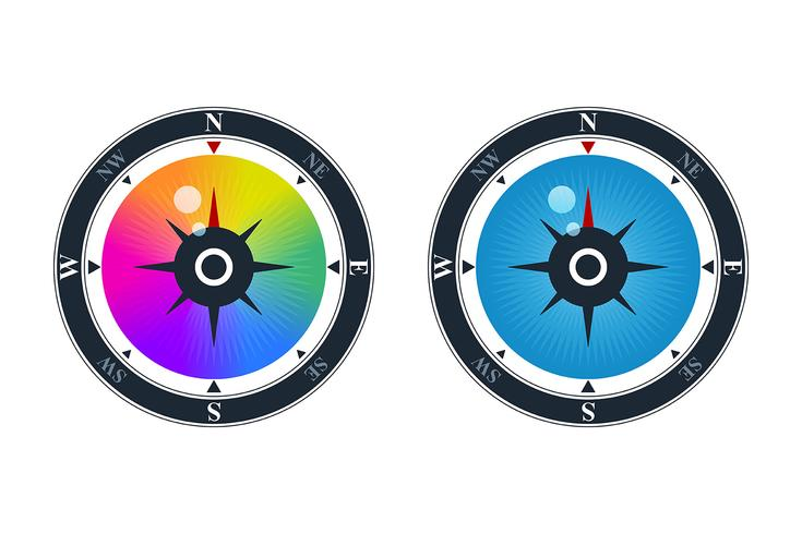 Vision and exploration icons vector