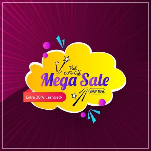 Grafica promozionale mega vendita colorata