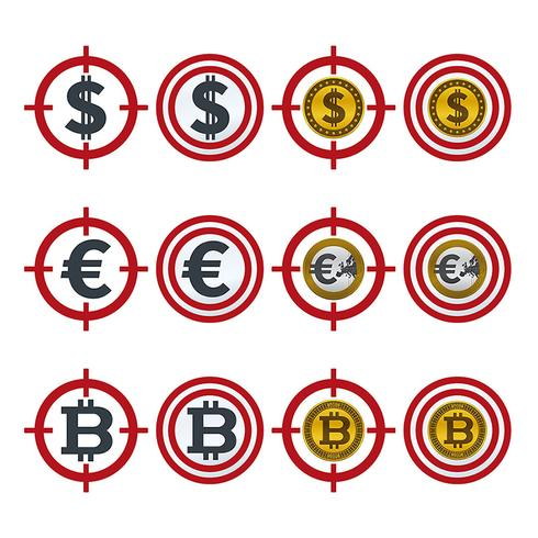 Aiming icons with currencies