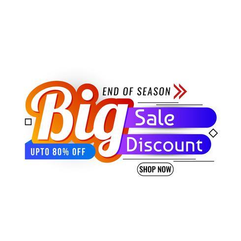 End of season sale promotion vector