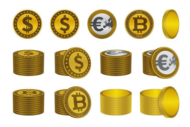 Dollar euro bitcoin guldmyntikoner