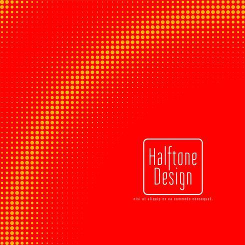 Diseño de semitono rojo y amarillo vector