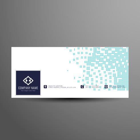 Banner de medios tonos azul y blanco