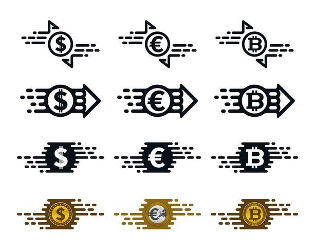 Schnelle Überweisung Symbole