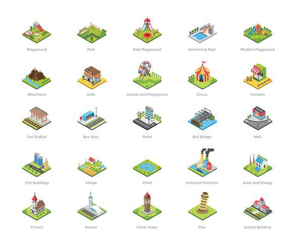 Playground e outros ícones de Marcos vetor