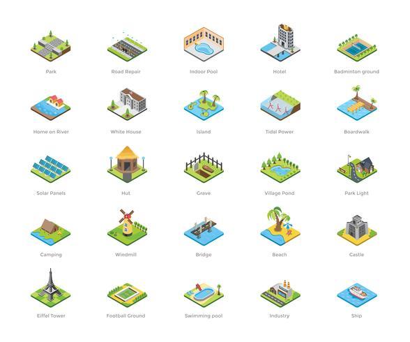 Gebouwen en andere architectuurpictogrammen