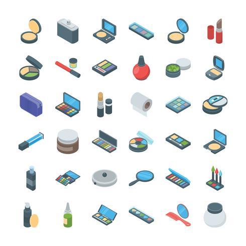 Conjunto de iconos de productos de belleza