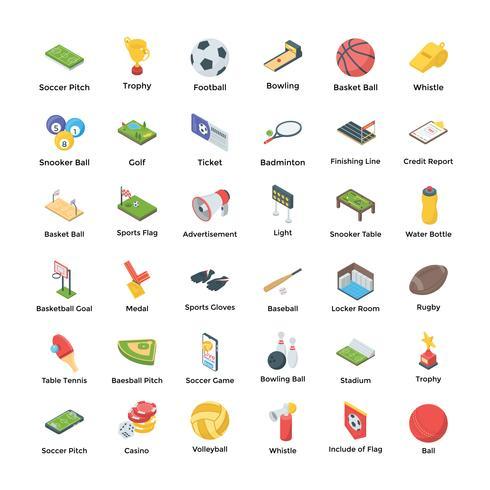 Conjunto de pacote de ícones de esportes vetor