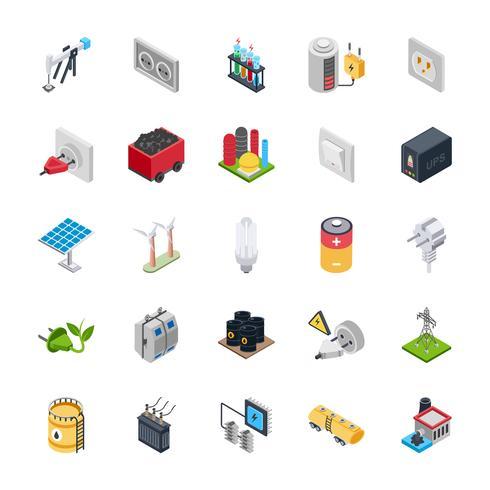 Ikoner för elektrisk energi