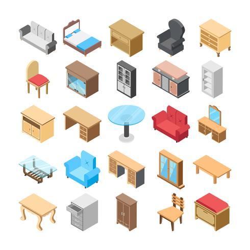 Möbel Flat Icon Pack