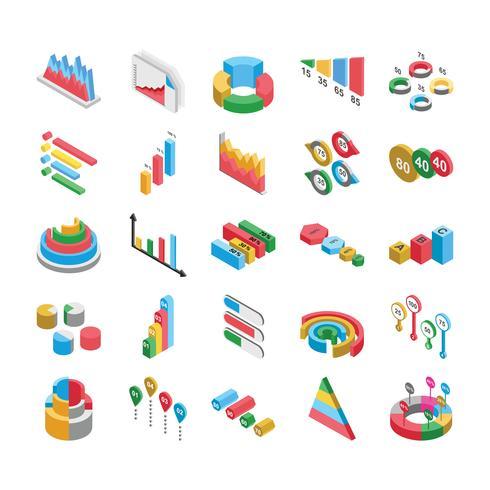 Grafiek en grafieken Icon Pack