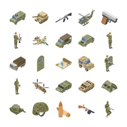 Military, Special Forces and Army Icons Set vector