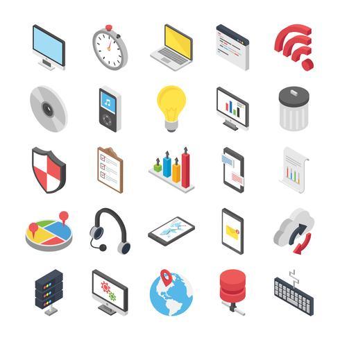 Conjunto de ícones de objetos da Web vetor