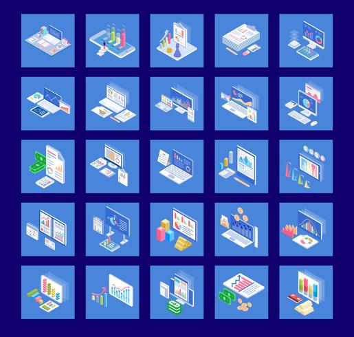 Business Diagram Icon Pack vektor