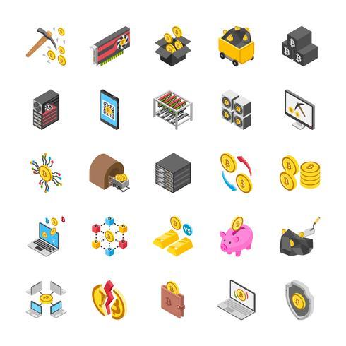 Paquete de iconos de criptomonedas y Bitcoin