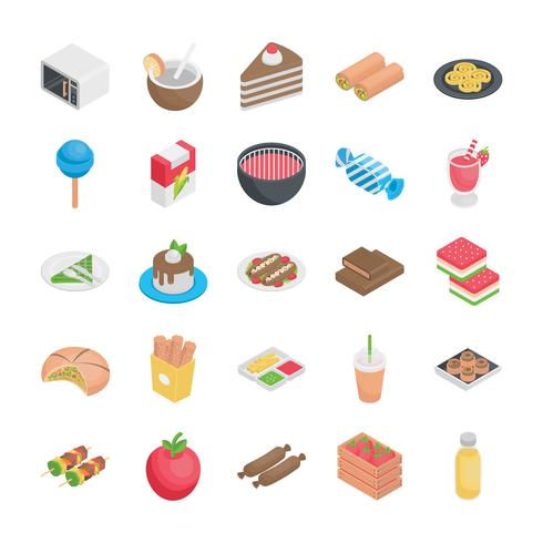 Best Food Flat Icons vector
