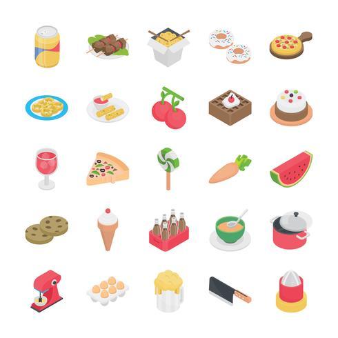 Verschiedene Nahrungsmittelgegenstandikonen