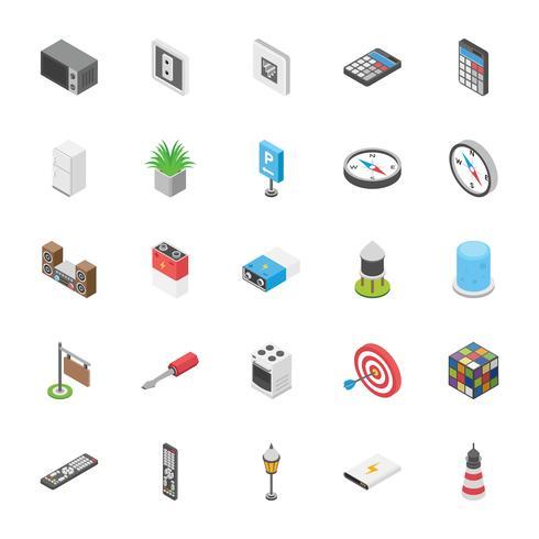 Pack van entertainment en andere objecten pictogrammen