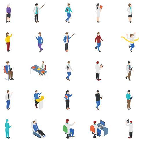 Professional People Isometric Icons