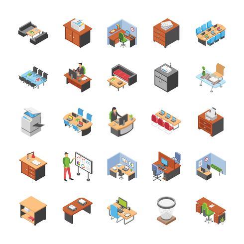 Pack van Office werkplekpictogrammen
