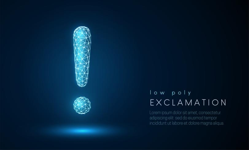 Exclamation mark. vector