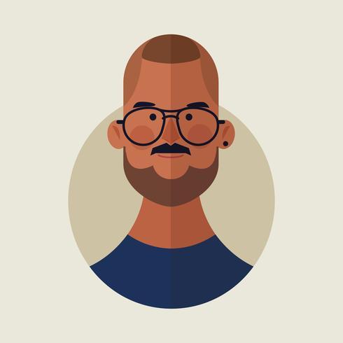 caricature de visage d'homme