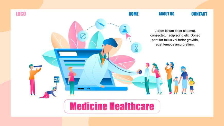Illustratie Online Doctor Survey Group People