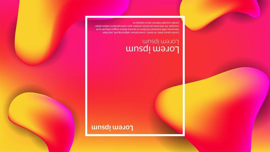 Abstract gradient modern background fluid liquid orange red vector