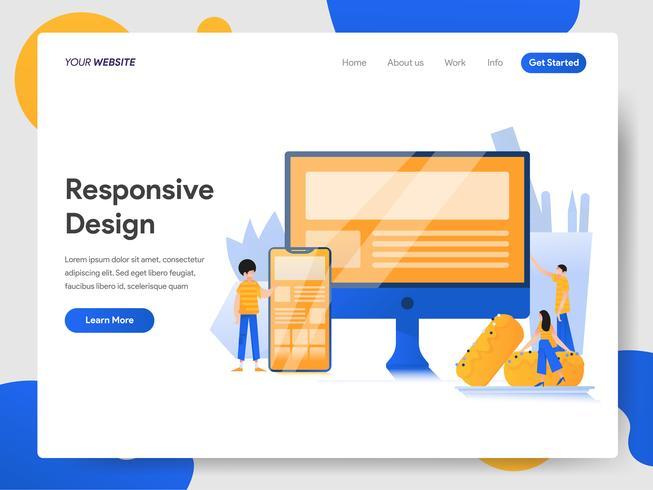 Zielseitenvorlage von Responsive Design Illustration