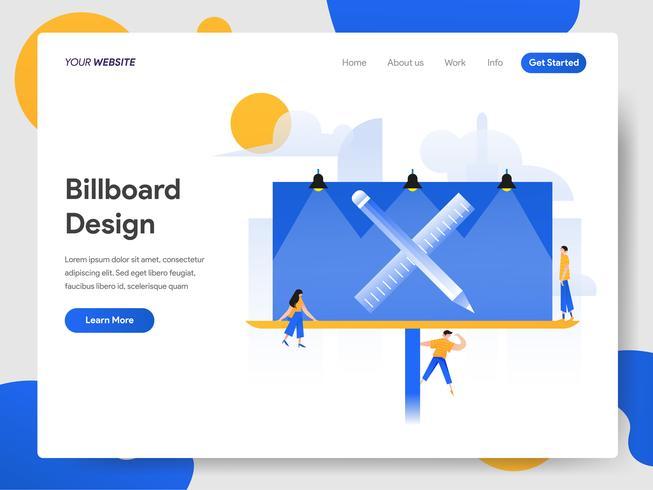 Landing page template of Billboard Design