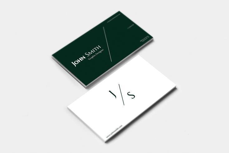Minimalist Business Card Design vector