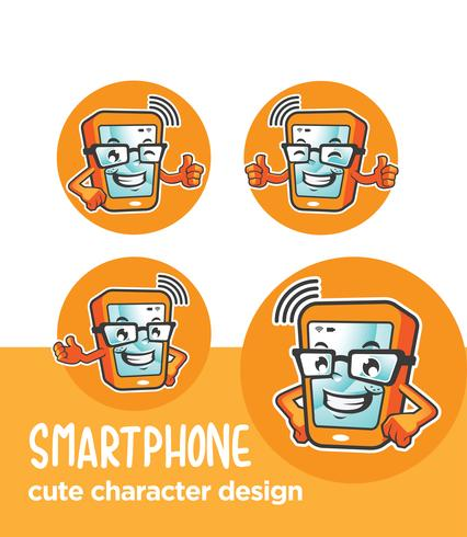 phone mascot design  vector