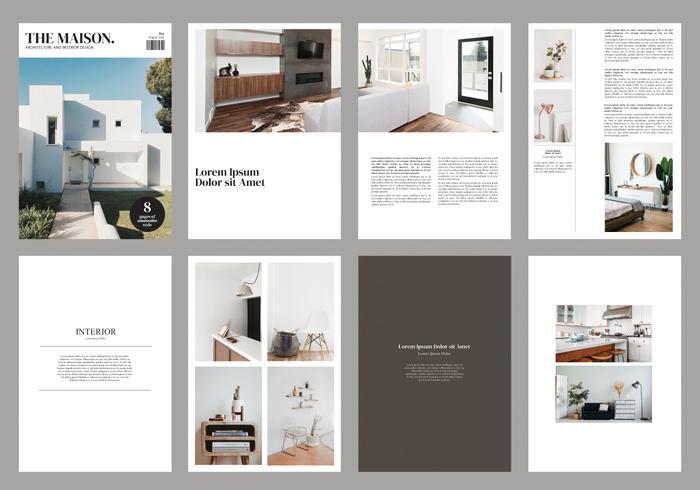 Interior Brochure Magazine Template