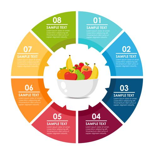 Fruit ronde infographic vector
