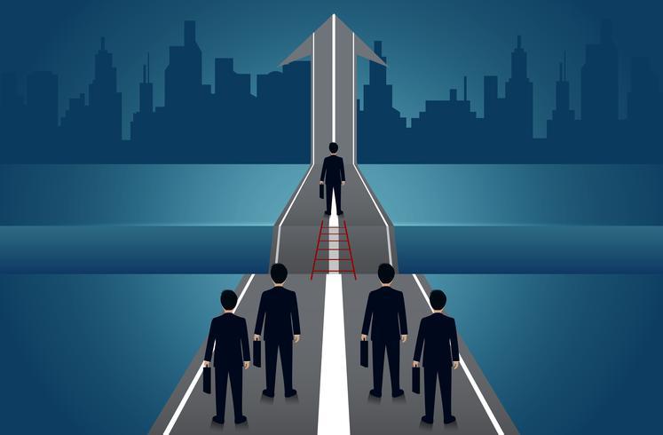 Affärsmän tävlar på vägen till framgång