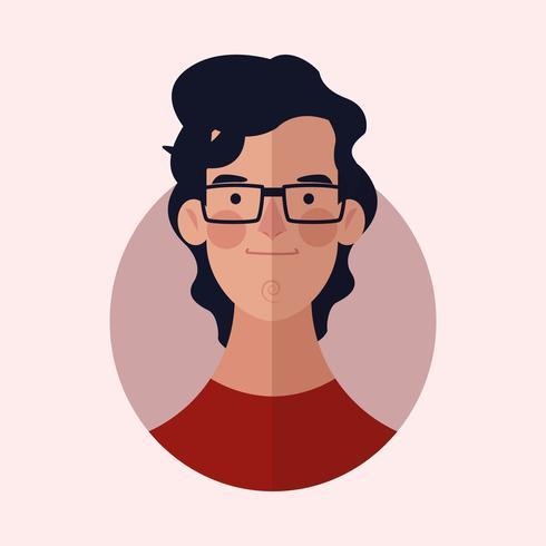 cartone animato volto di uomo