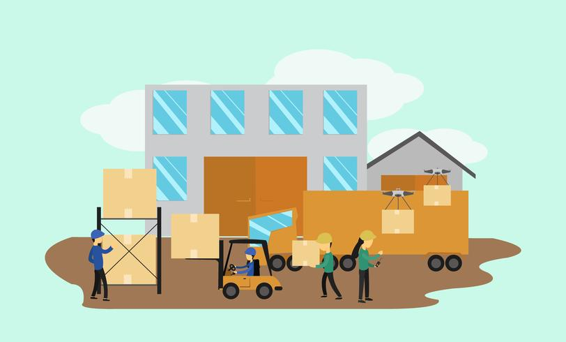Warehouse Logistic  vector