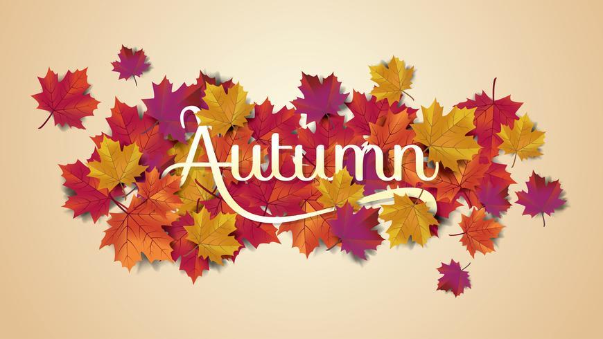 Tarjeta de felicitación de tipografía de otoño