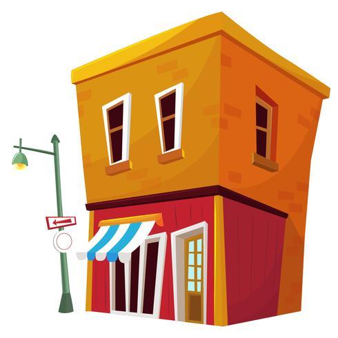 Cartoon Store Front Building
