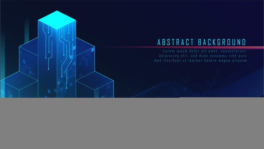Abstrakt glödande futuristiska block
