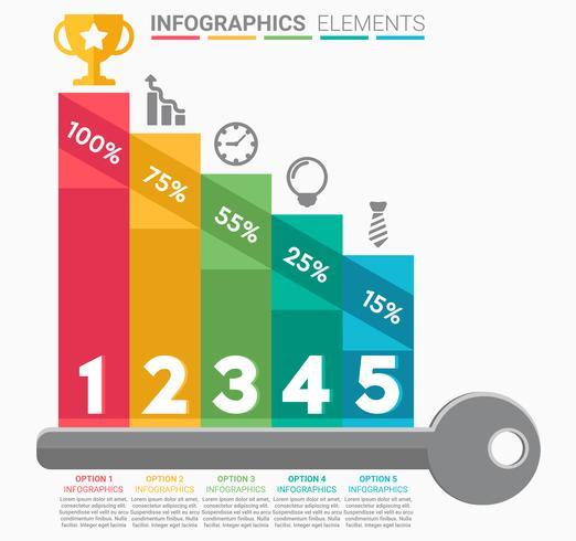 INFOGRAPHICS Business Staircase elemento design o número vetor