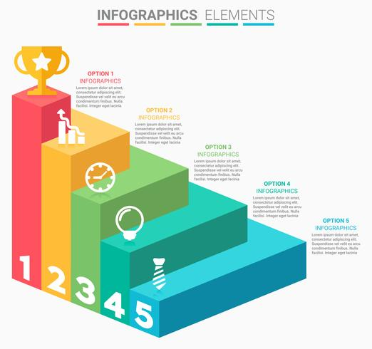 INFOGRAPHICS Business Stairs design