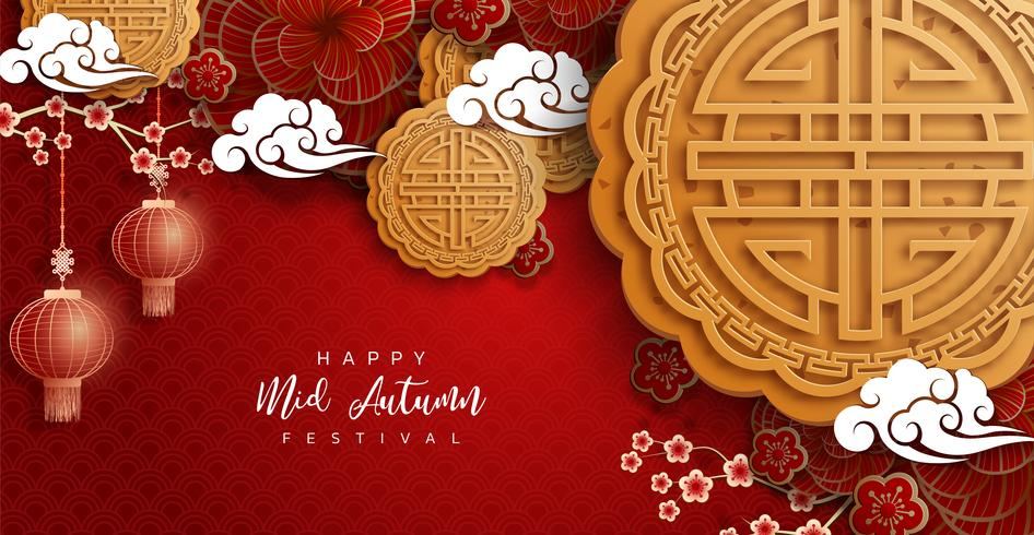 Sfondo di festival metà autunno cinese