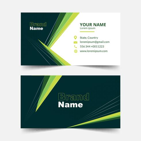 Modern Geometric Business card template