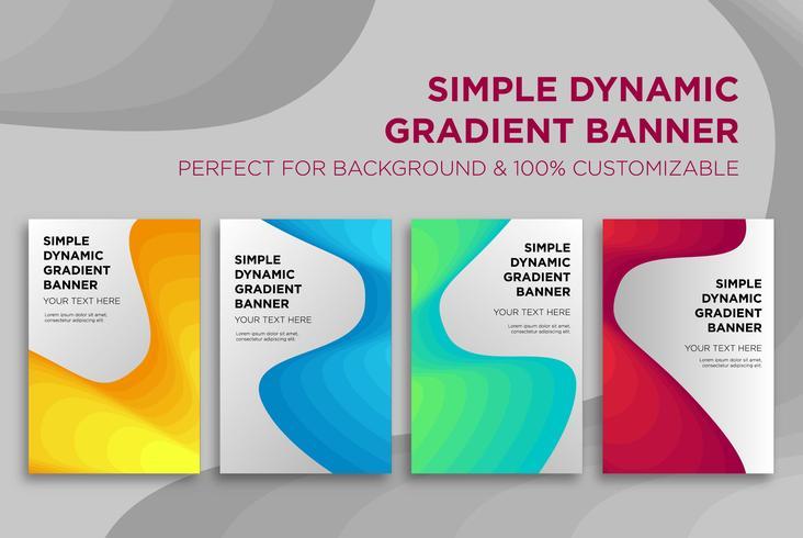 Banner de gradiente dinâmico simples