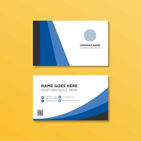 Modèle de carte de visite bleue vecteur